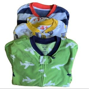 Carter's bundle of boys 4T footie pajamas